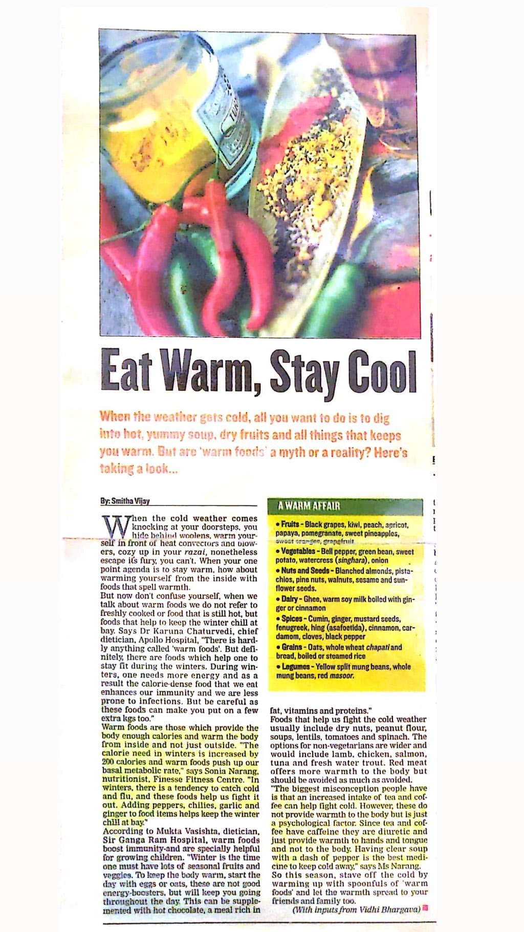 Eat Warm, Stay Cool